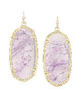 Elle Earrings in Amethyst