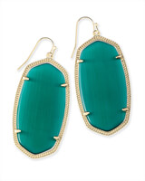 Danielle Earrings in Emerald Cat's Eye