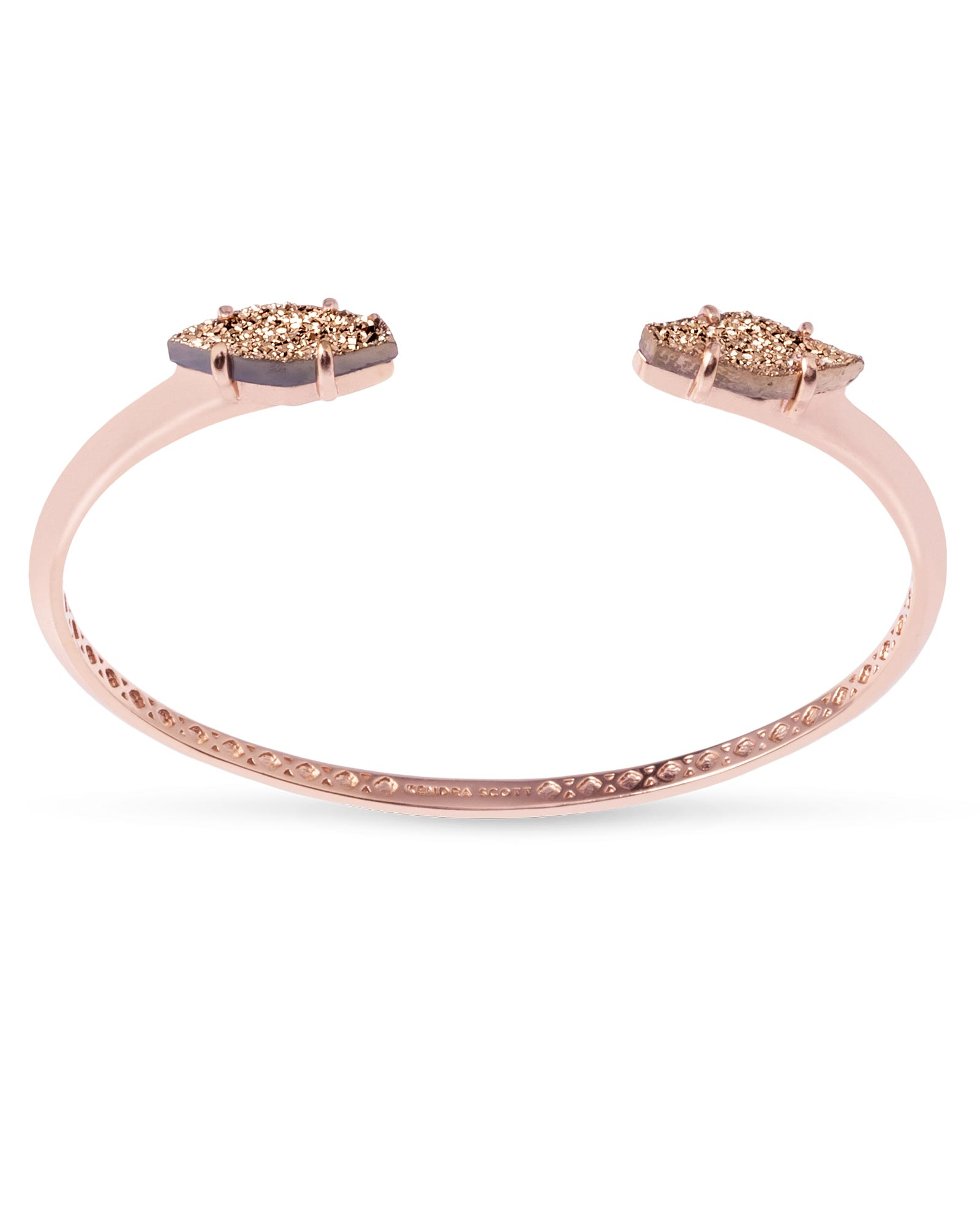 Bianca Cuff Bracelet in Rose Gold Drusy