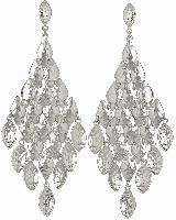 Nera Chandelier Earrings in Silver
