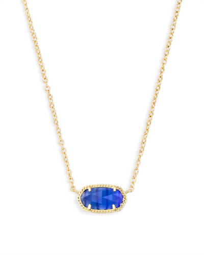 Elisa Pendant Necklace in Cobalt Cats Eye