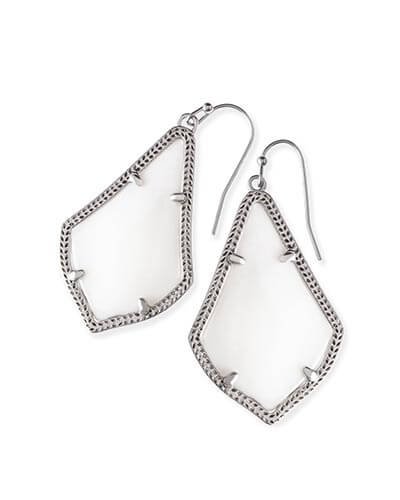 Alex Silver Earrings in White Pearl