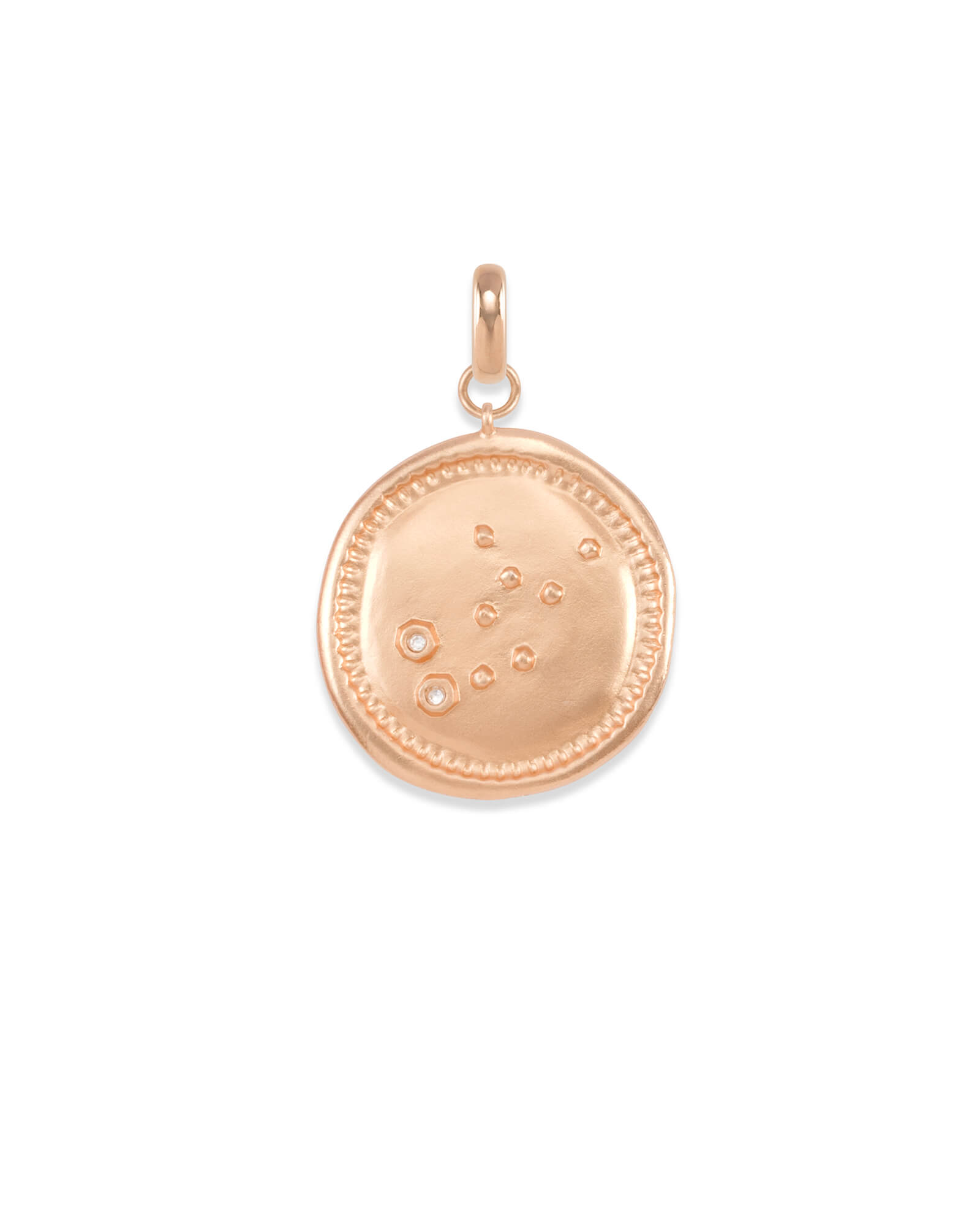 Virgo Coin Charm in Rose Gold