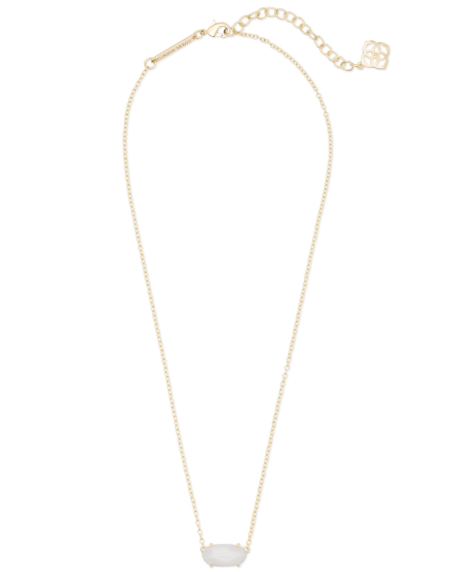 Ever Gold Pendant Necklace in White Pearl