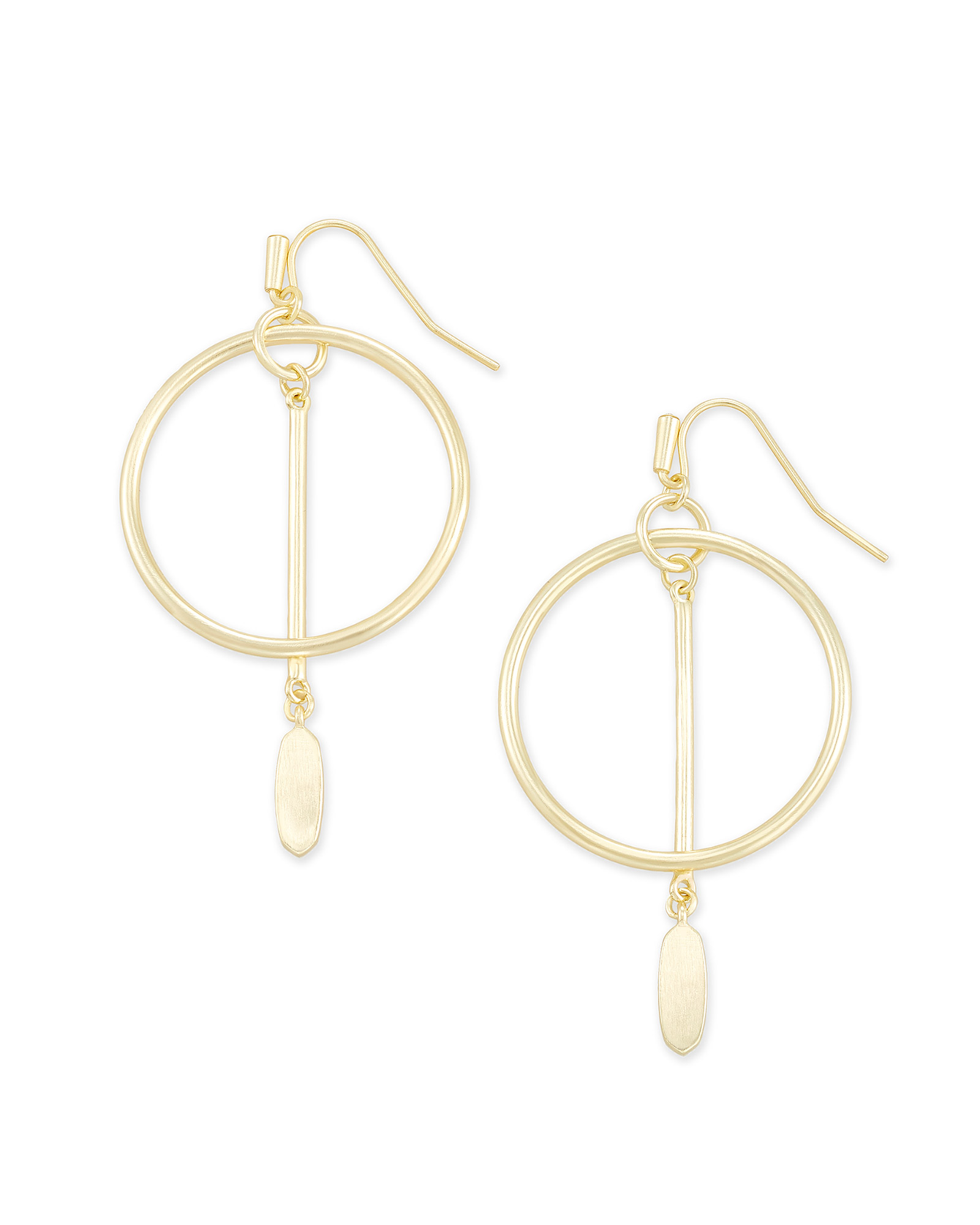 Nalani Open Frame Earrings in Gold