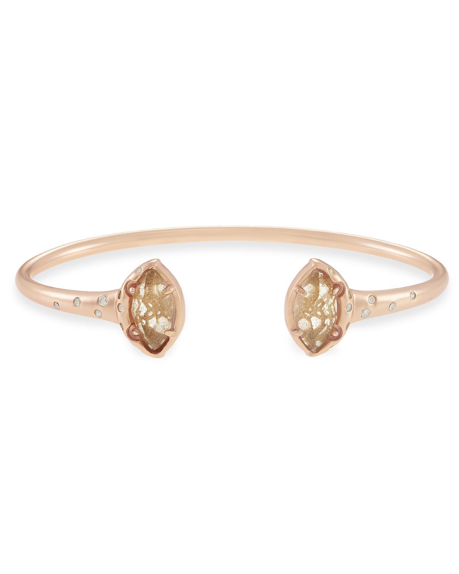 Laura Rose Gold Cuff Bracelet in Dusted Gold Kendra Scott