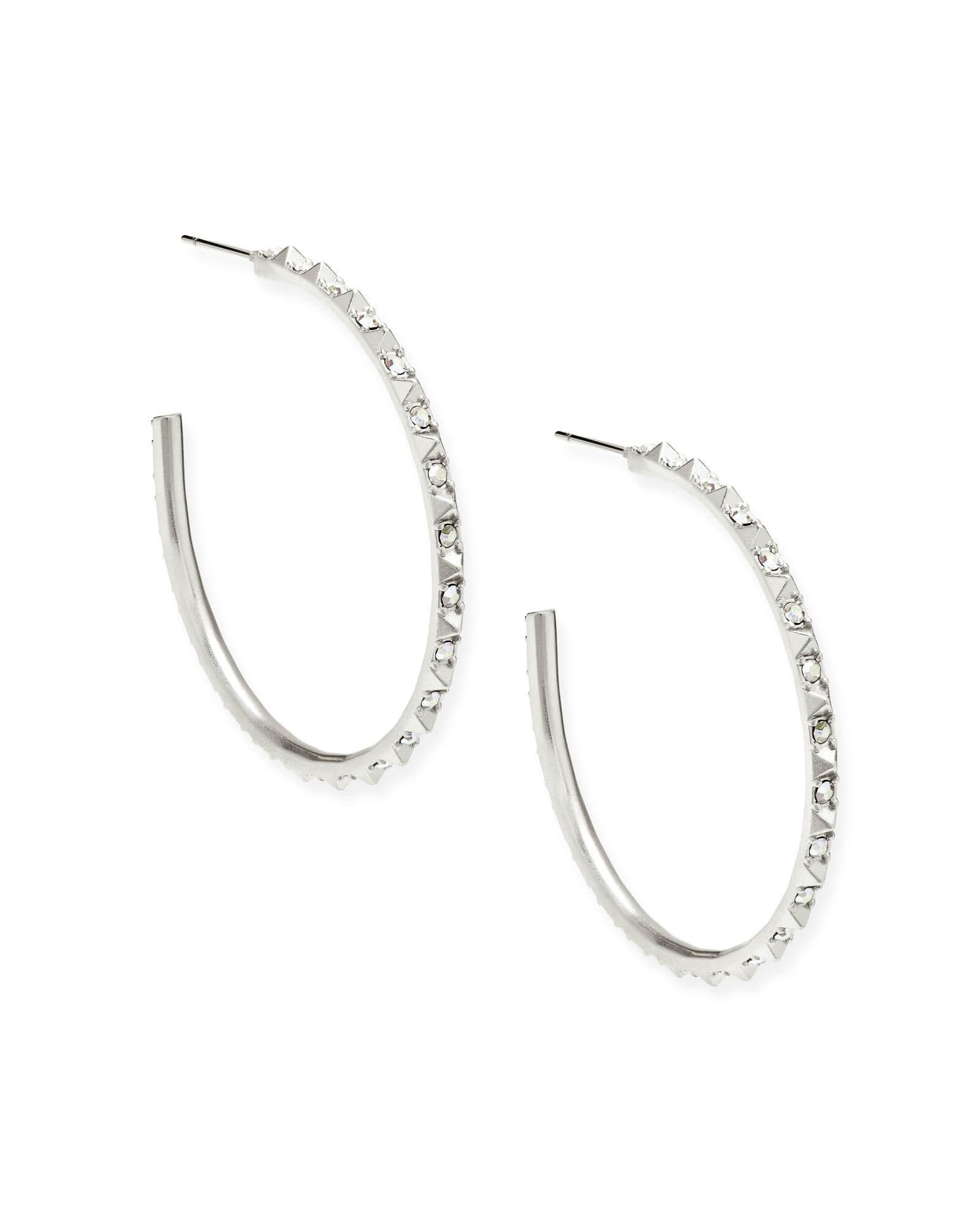 8d483c6ed Veronica Hoop Earrings in Silver | KendraScott