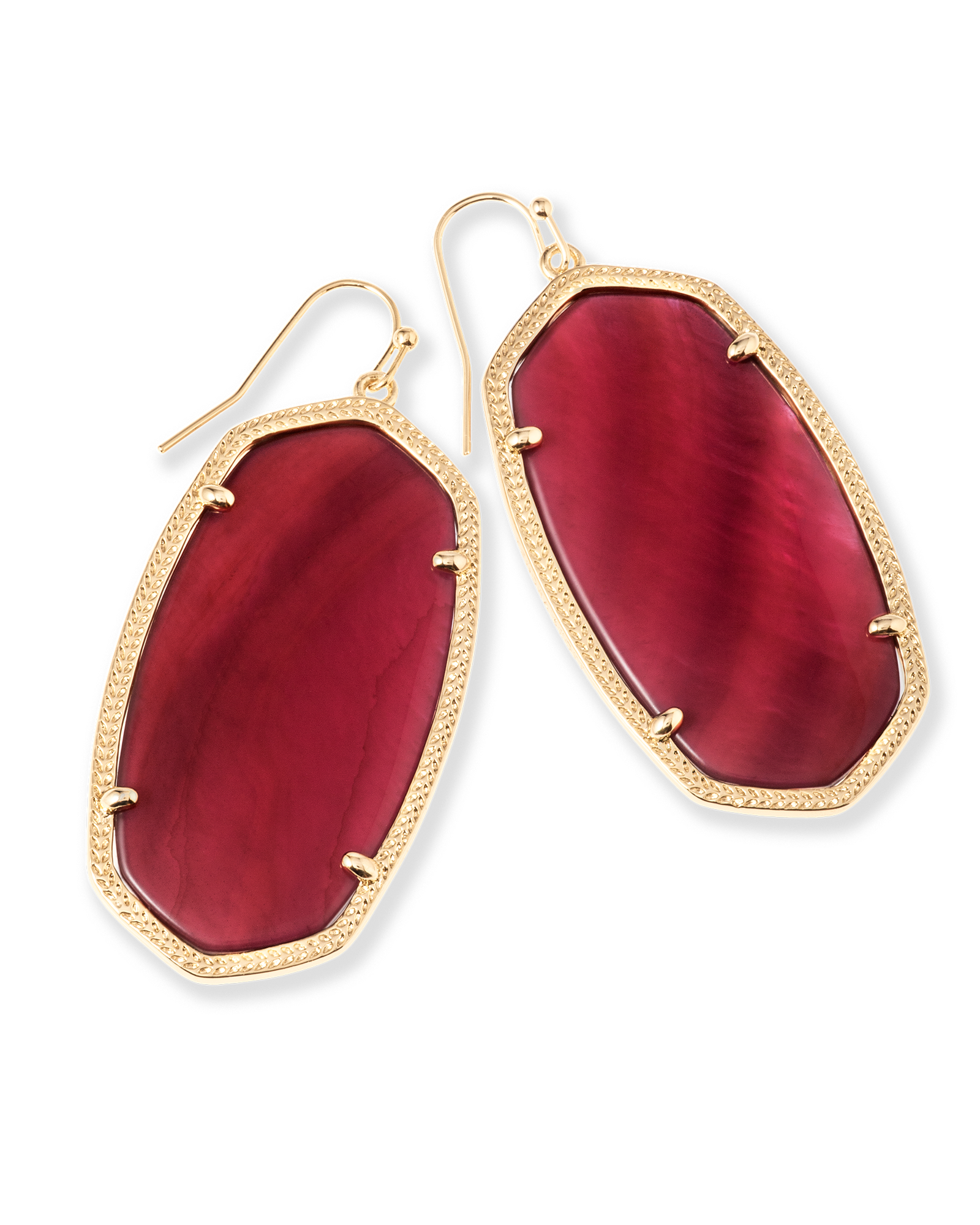 Danielle Statement Earrings in Burgundy Illusion