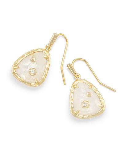Asher Drop Earrings in Crystal Ivory Illusion