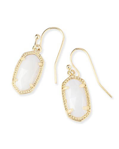 Lee Gold Earrings in White Pearl
