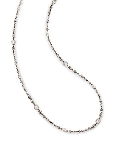Dree Long Necklace in Antique Silver
