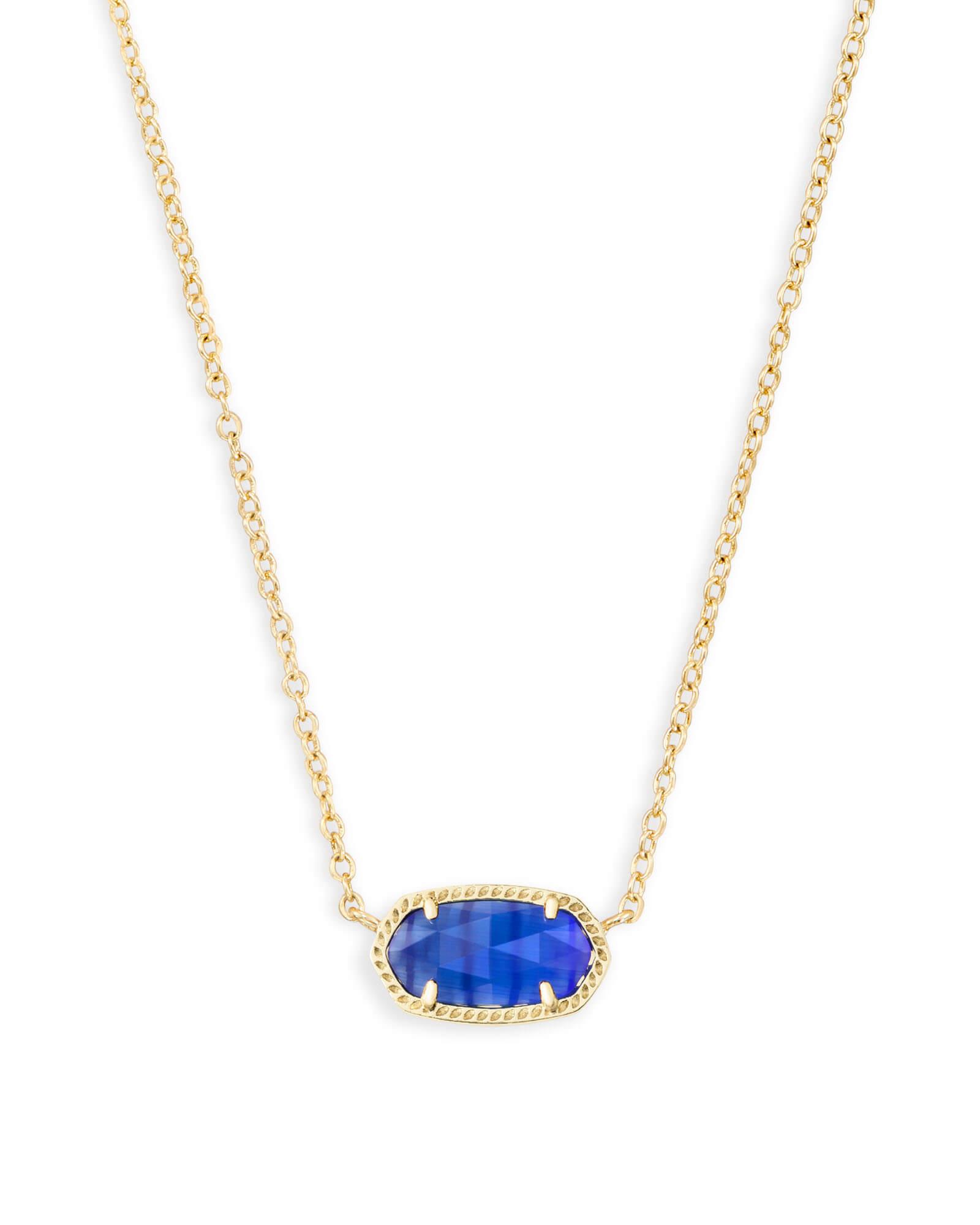 Elisa gold pendant necklace in cobalt blue kendra scott elisa pendant necklace in cobalt cats eye aloadofball Images