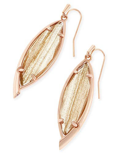 Maxwell Drop Earrings in Gold Dusted Glass