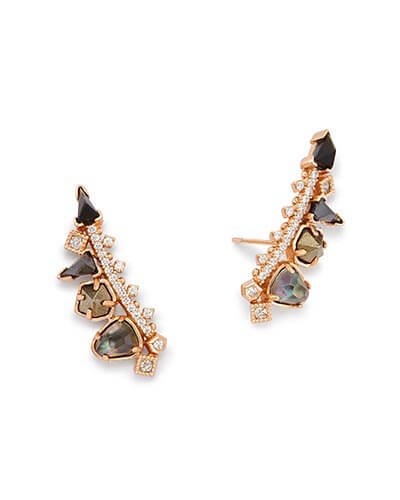 Clarissa Ear Climbers in Pyrite Mix