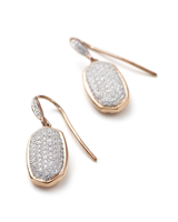 Lee Earrings in Pave Diamond and 14k Rose Gold