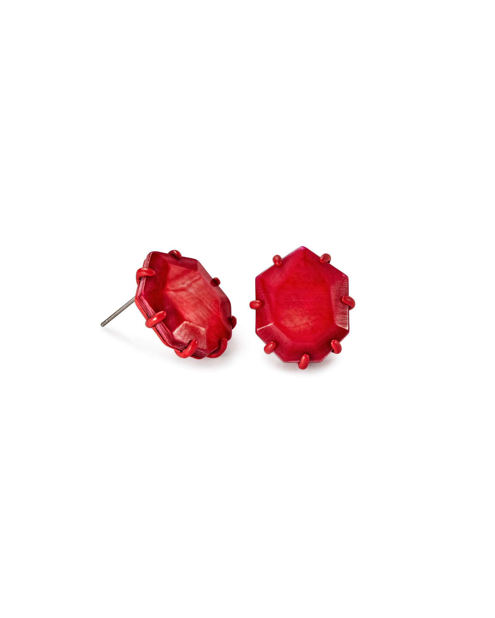 tresor paris stud earrings jewellery crystal image from heart red