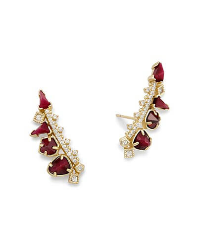 Clarissa Ear Climbers in Bordeaux Mix