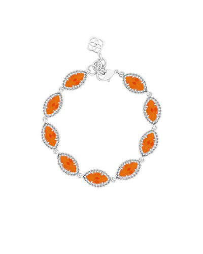 Jana Silver Bracelet in Orange