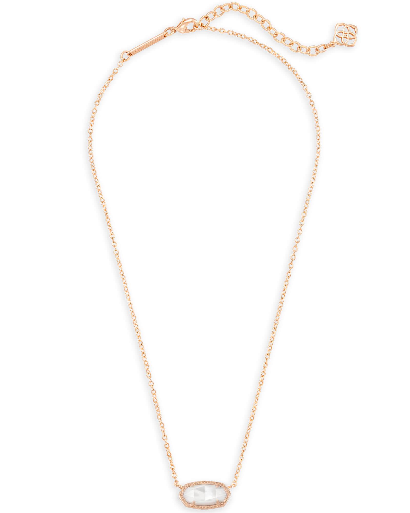 59c7159caa88b Elisa Rose Gold Pendant Necklace- Ivory Pearl | Kendra Scott