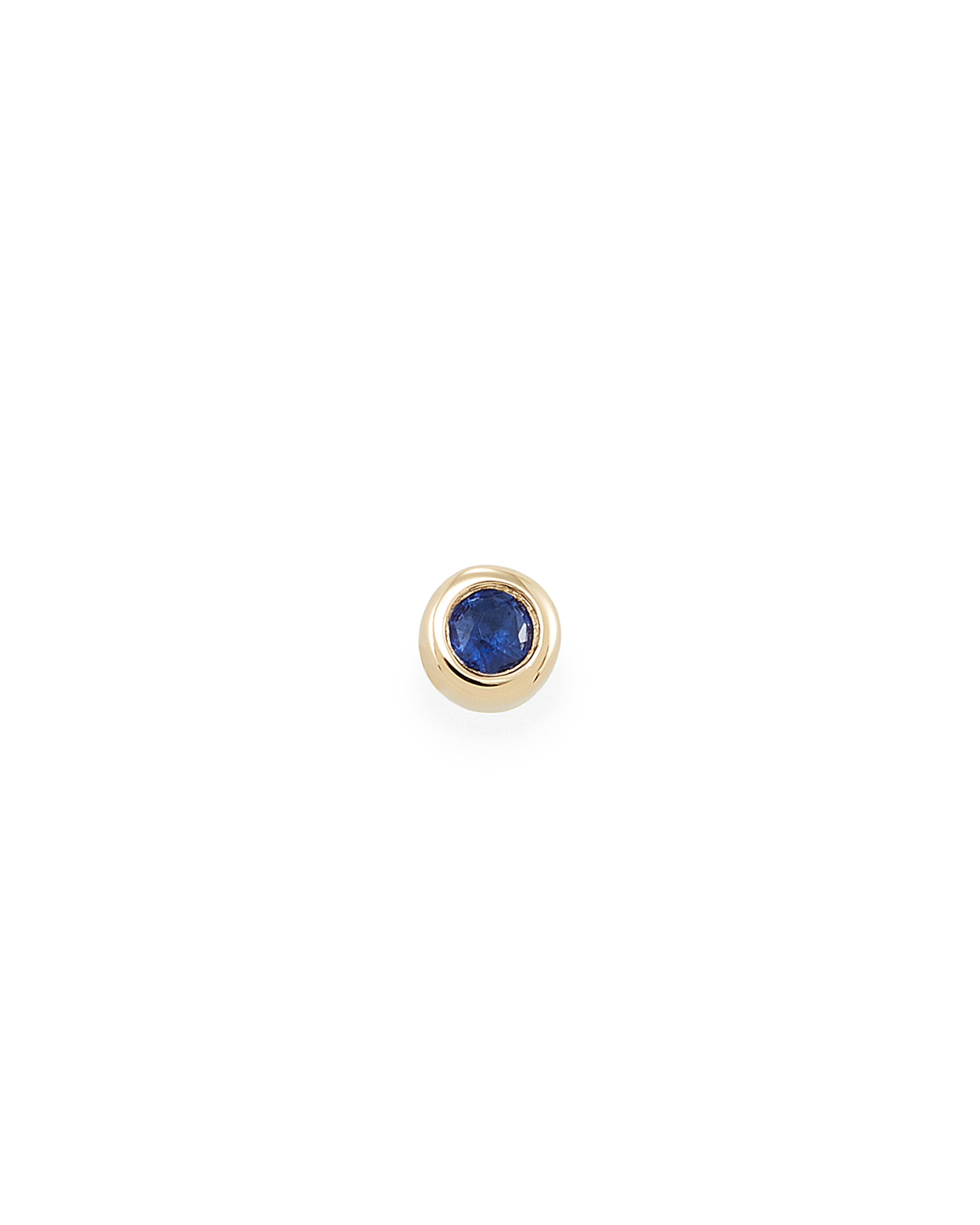 Reeve Mini 14K Yellow Gold Stud Earring in Blue Sapphire