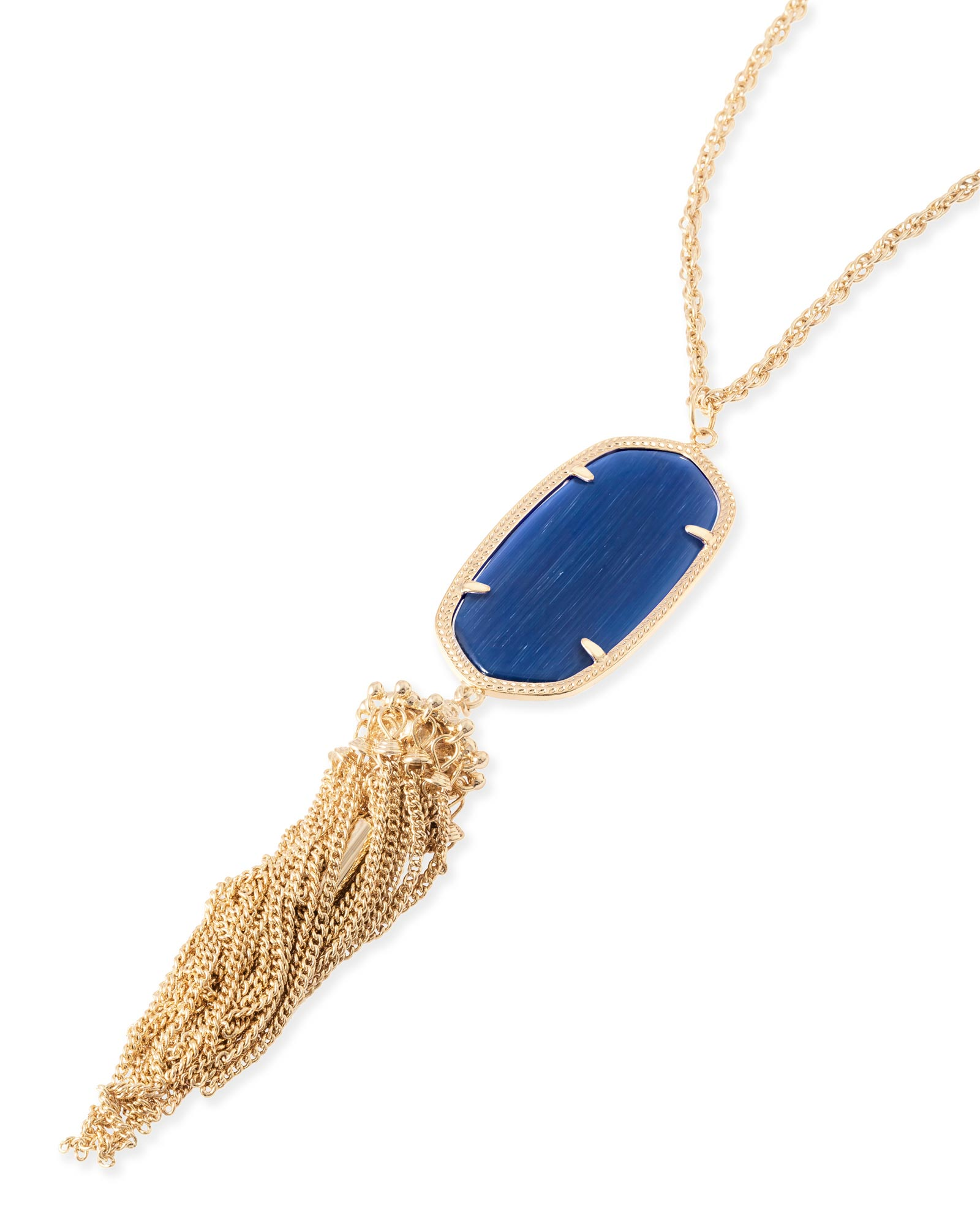 Rayne Necklace in Navy Cat's Eye