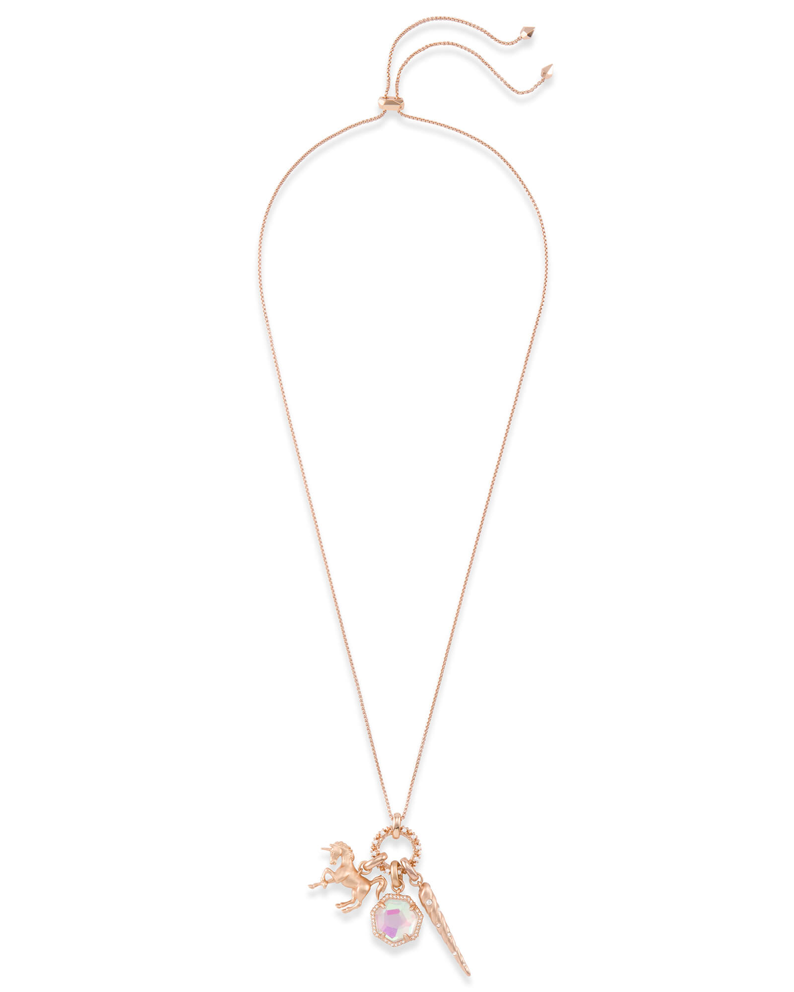 Magical Charm Necklace Set in Rose Gold