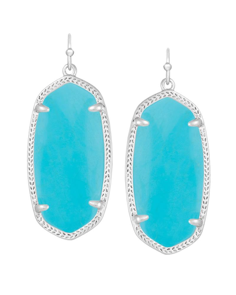 Elle Silver Earrings In Turquoise