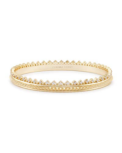 Mary Caroline Bangle Bracelet in Gold