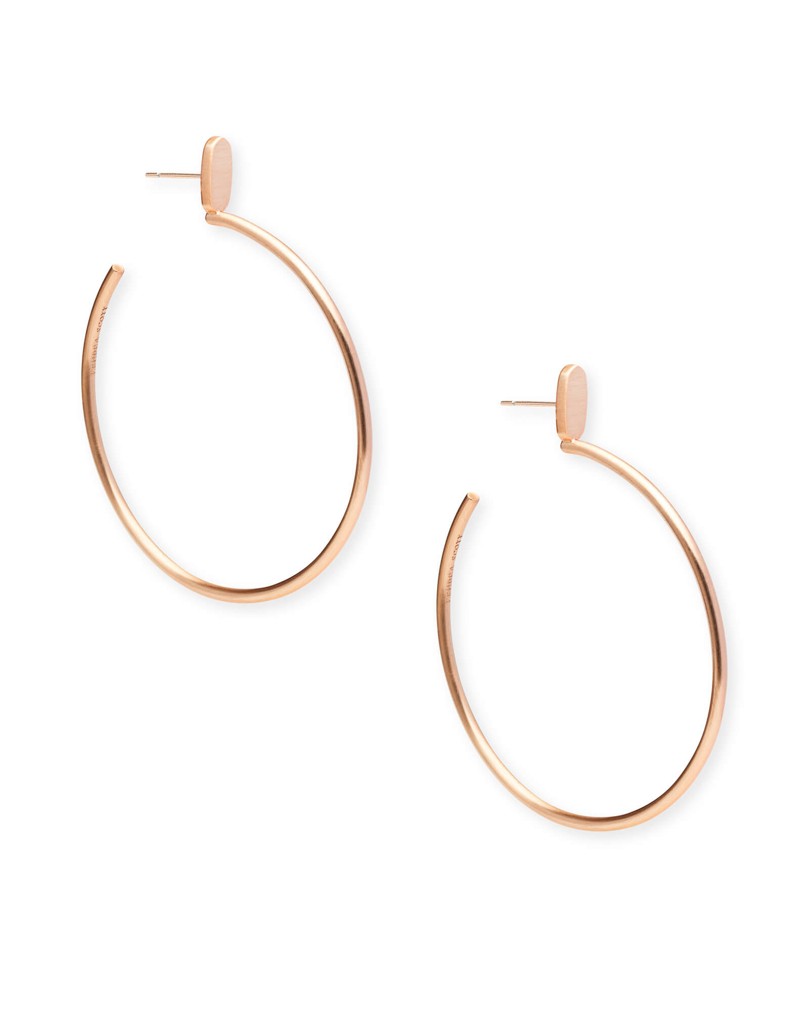 Pepper Hoop Earrings in Rose Gold
