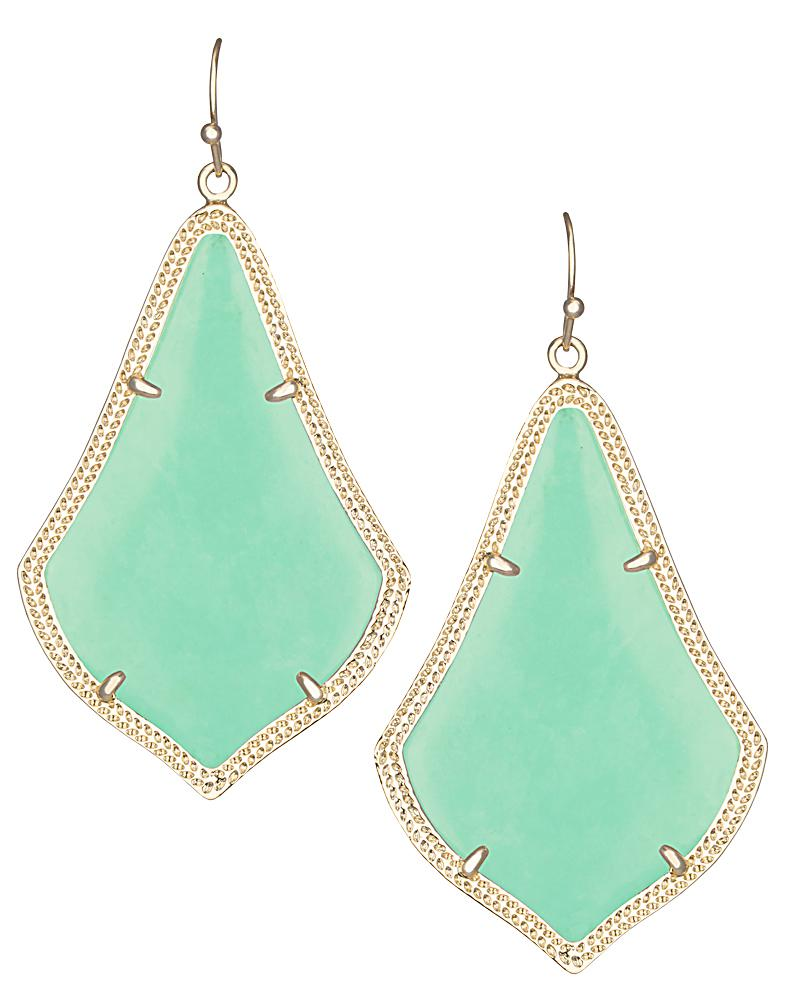 Alexandra Earrings in Mint