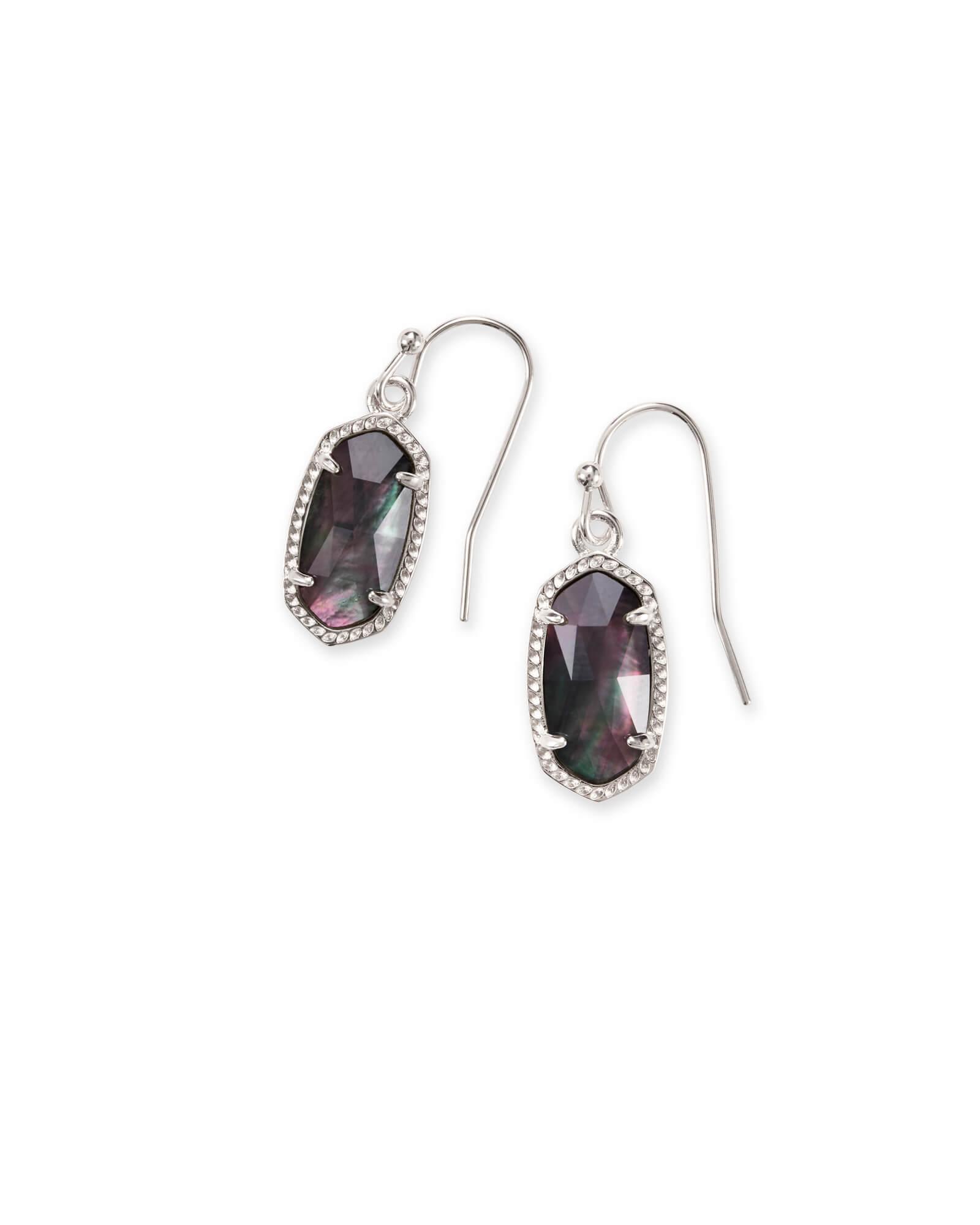 6c19e2887 Lee Silver Drop Earrings Black Pearl | Kendra Scott