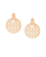 Didi Rose Gold Statement Earrings in Rose Gold Filigree