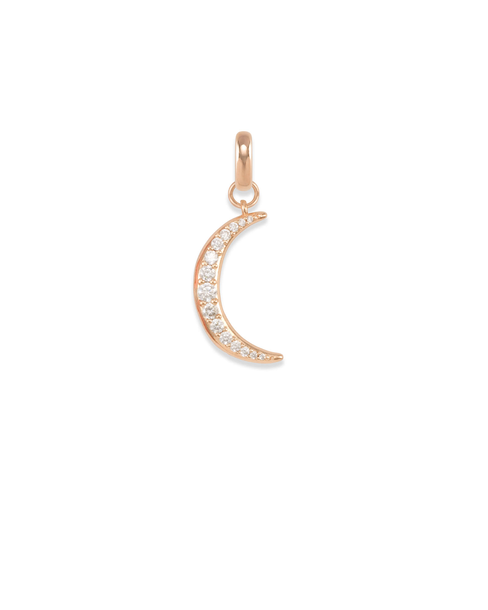 Small Crescent Moon Charm in Rose Gold