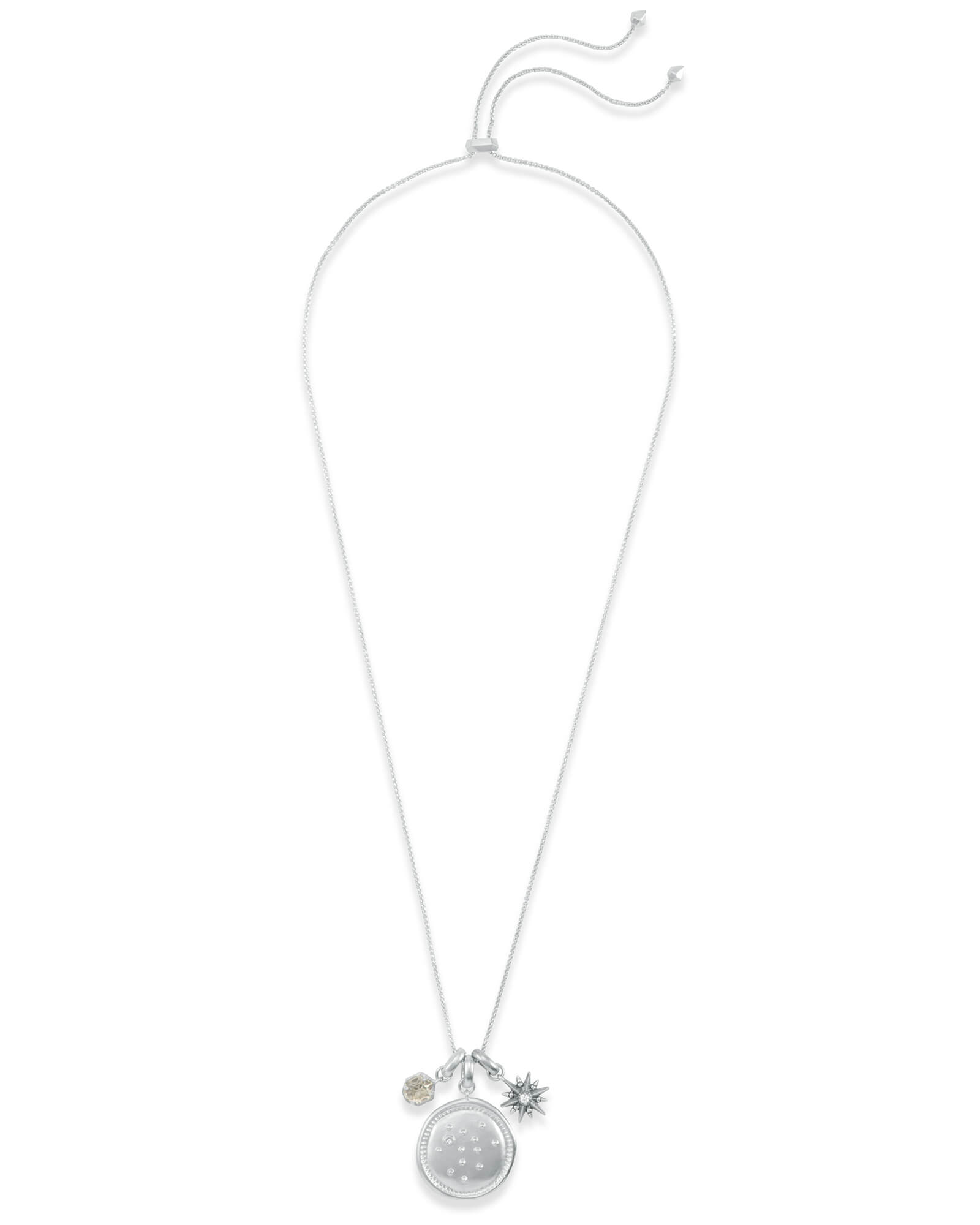 November Sagittarius Charm Necklace Set in Silver