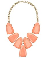 Harlow Statement Necklace in Coral
