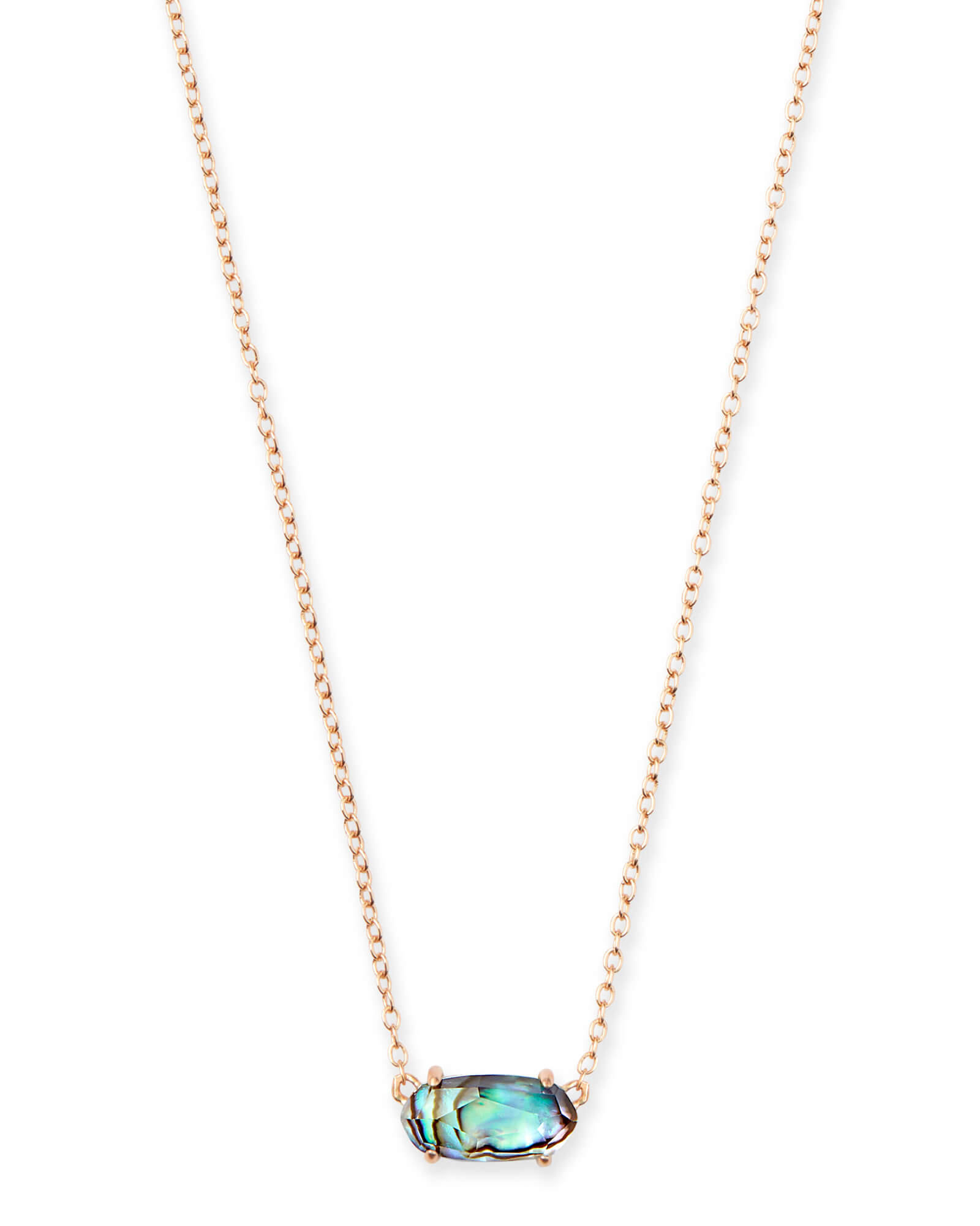 Ever Rose Gold Pendant Necklace in Abalone Shell | Kendra Scott