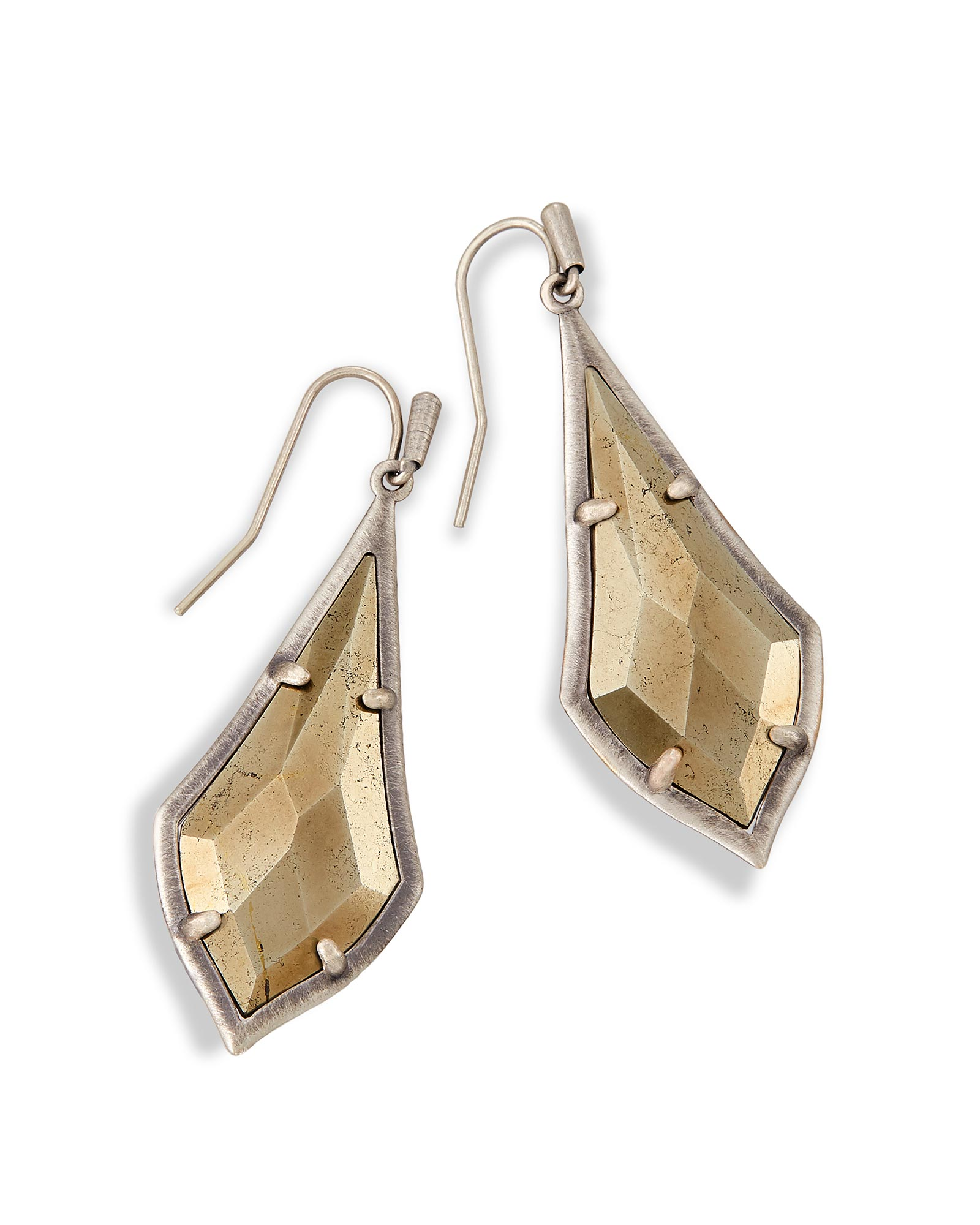 Olivia Drop Earrings in Pyrite