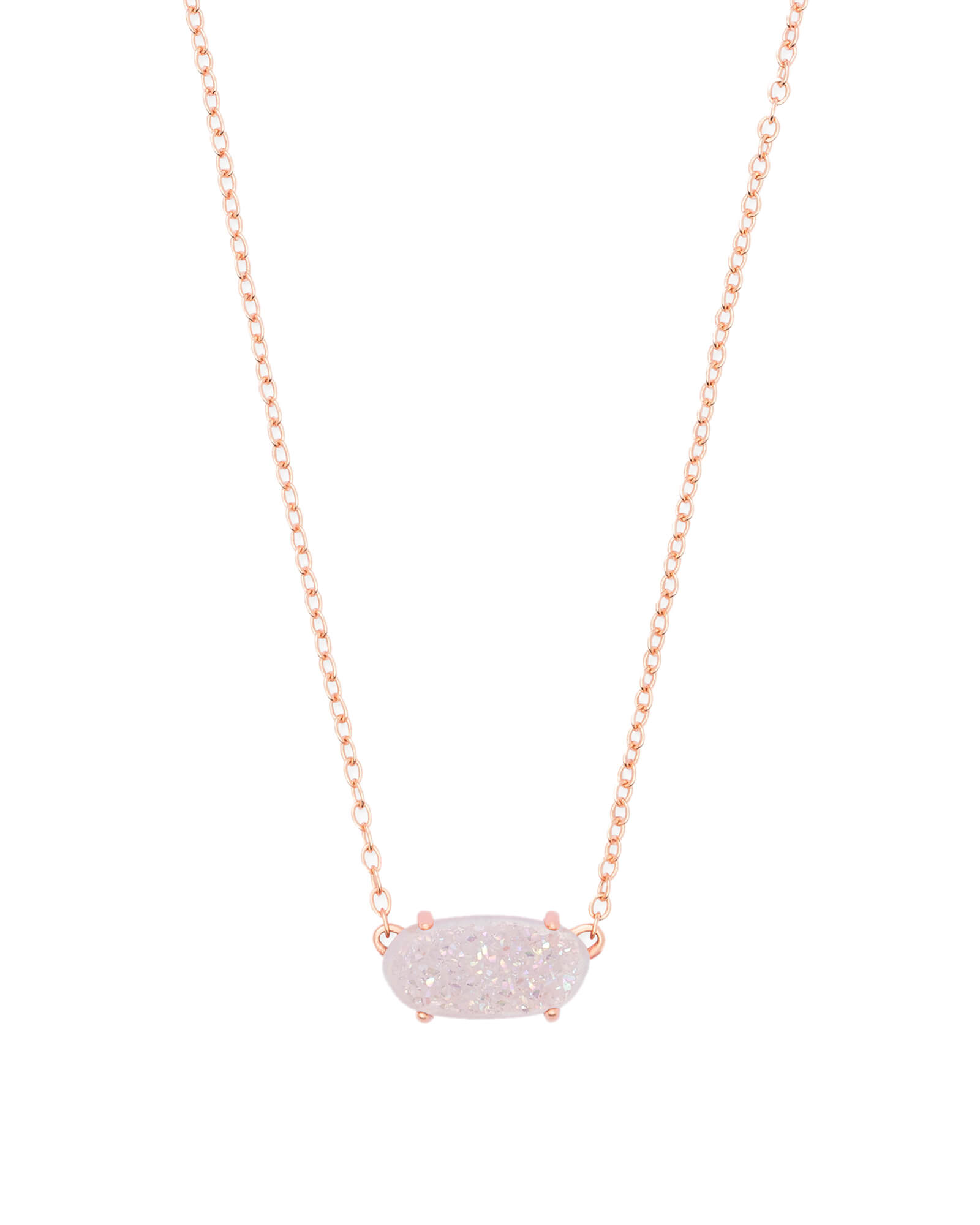 Ever Pendant Necklace in Rose Gold