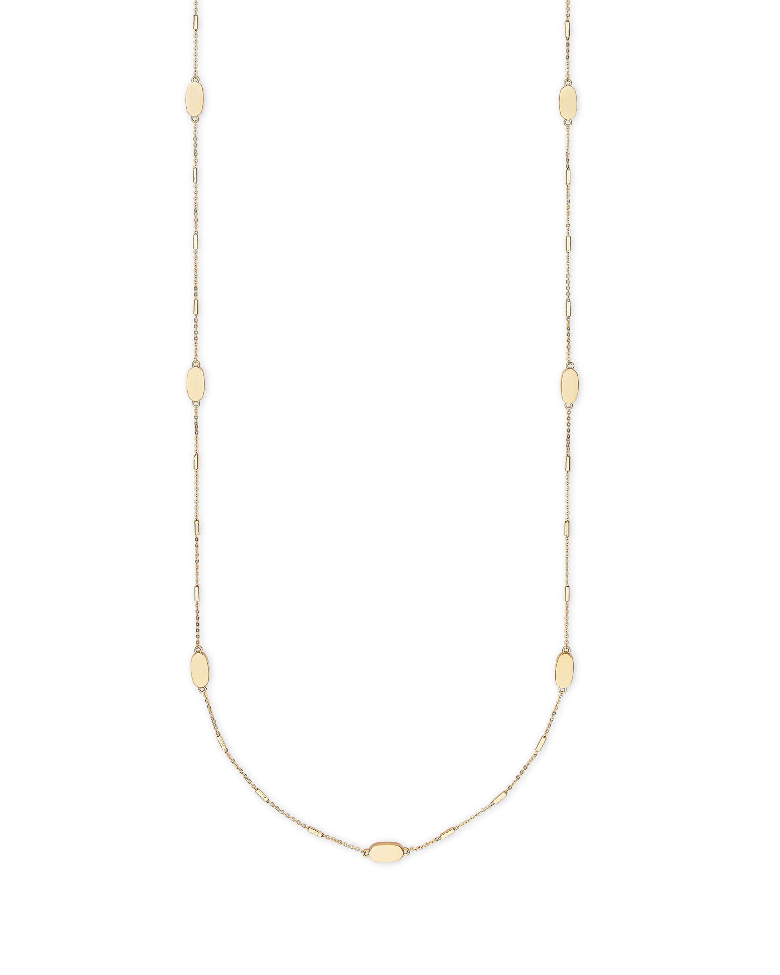 Franklin Long Necklace in Gold