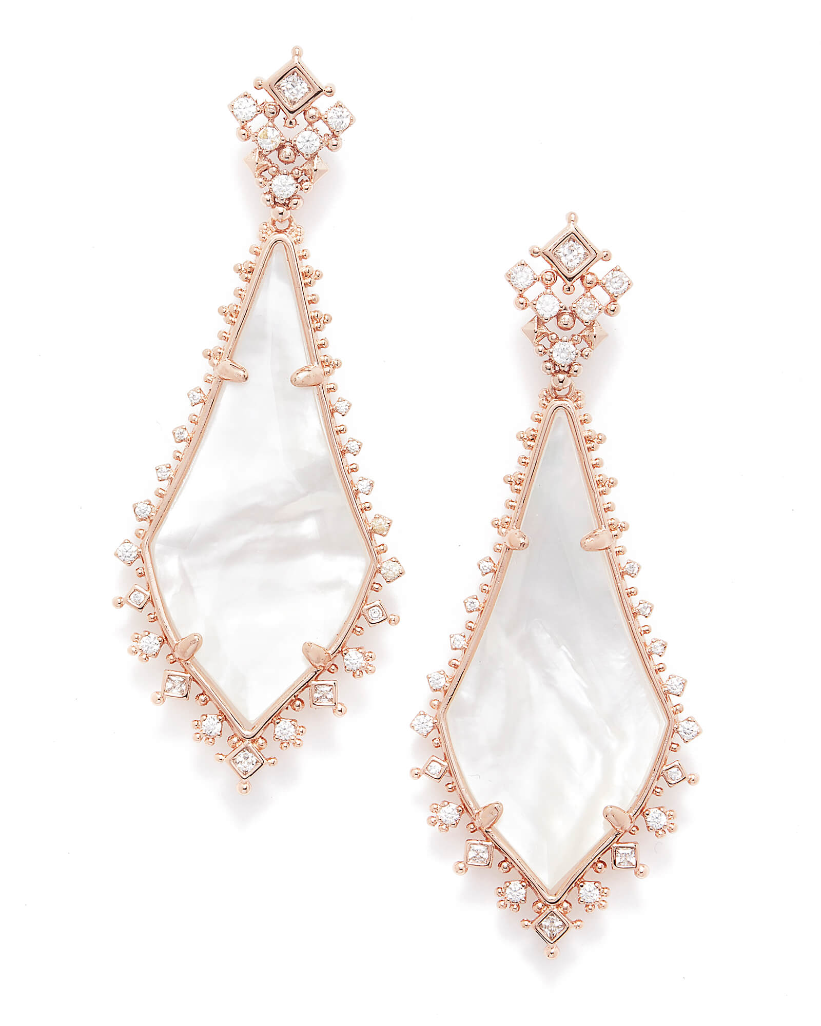 Martha Statement Earrings in Rose Gold