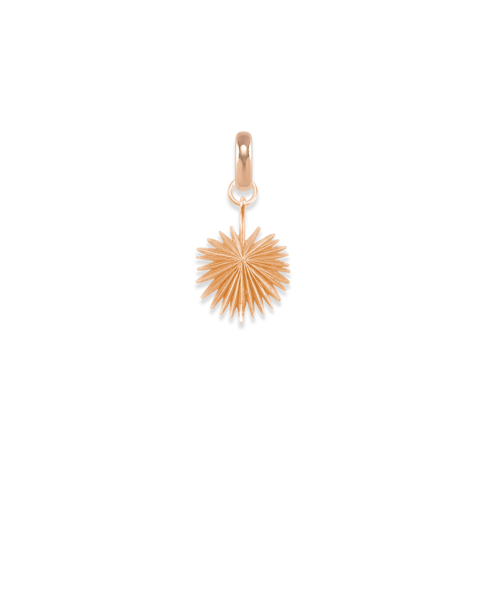 South Carolina Sabal Palmetto Charm in Rose Gold
