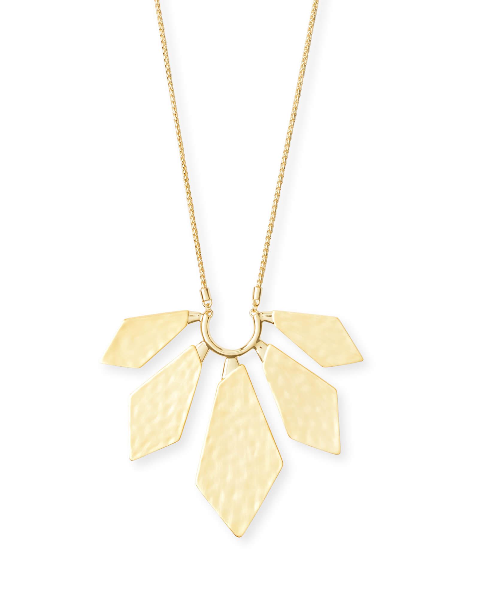 Mari Long Pendant Necklace In Gold Kendra Scott
