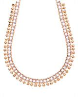 Oscar Rose Gold Choker Necklace in Blush Crystal