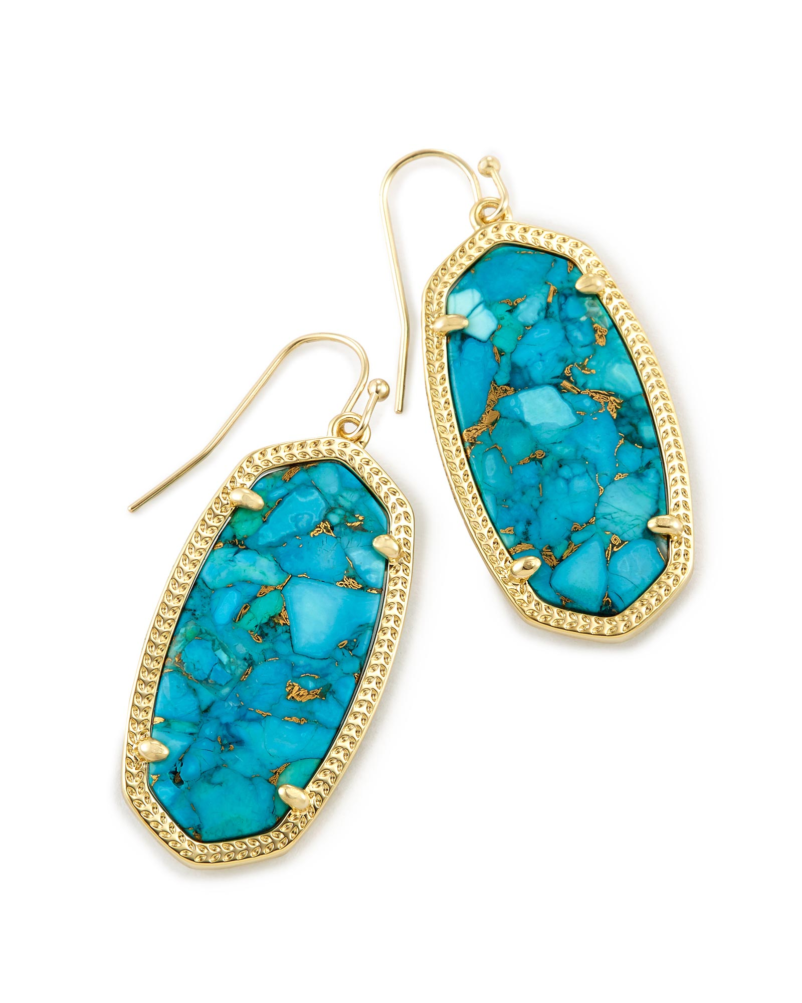 danielle runway jewelry danielleturquoiseearrings pierced rent by turquoise for shop the designers earrings scott kendra