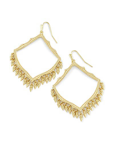 Lacy Drop Earrings in Gold