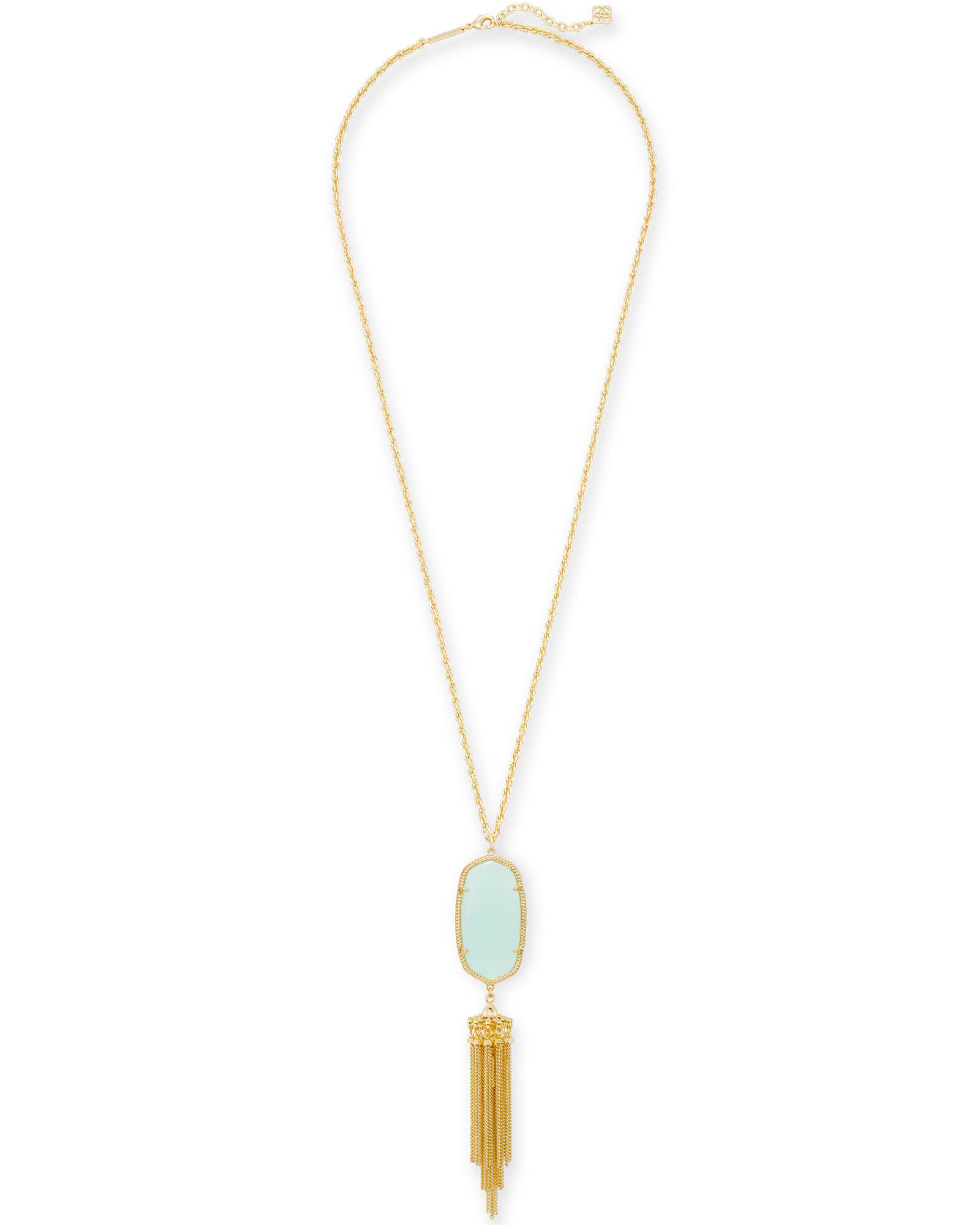 Rayne Long Pendant Necklace in Gold