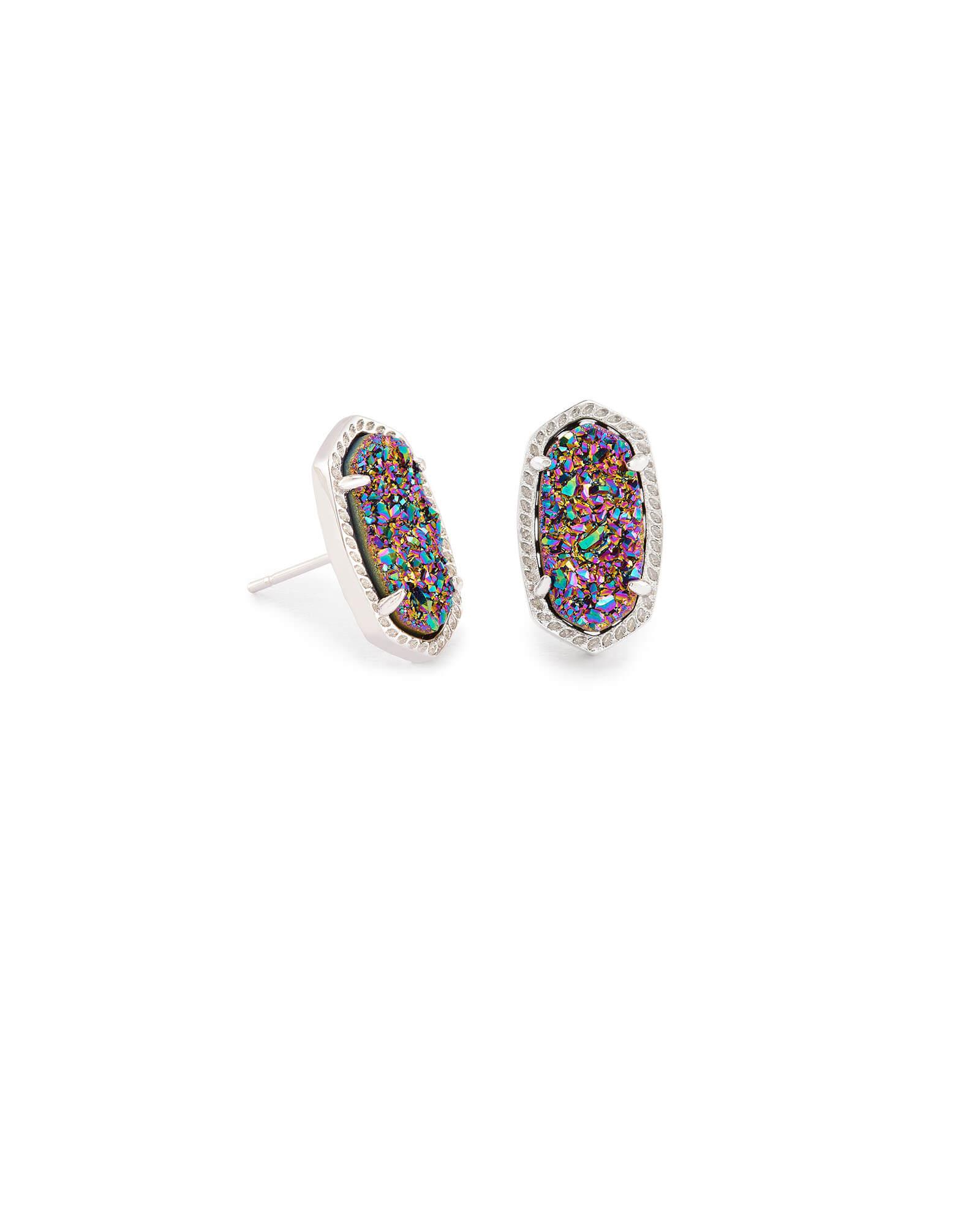 Images Ellie Silver Stud Earrings In Multicolor