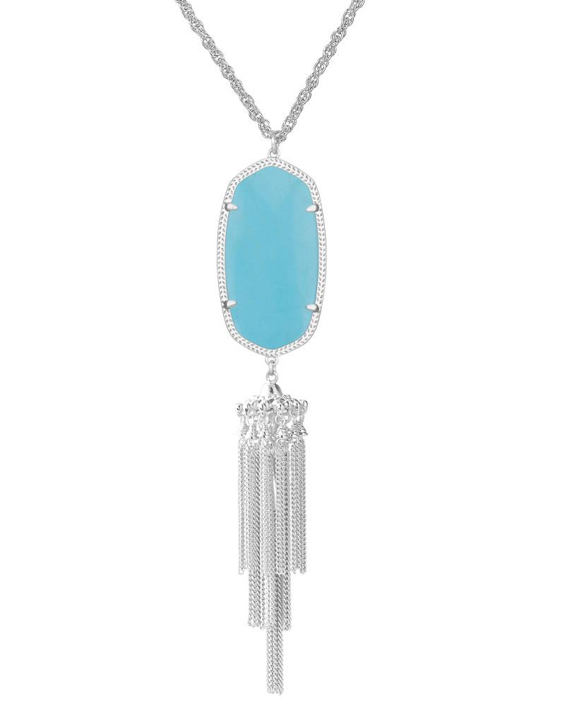 Rayne Silver Necklace in Turquoise