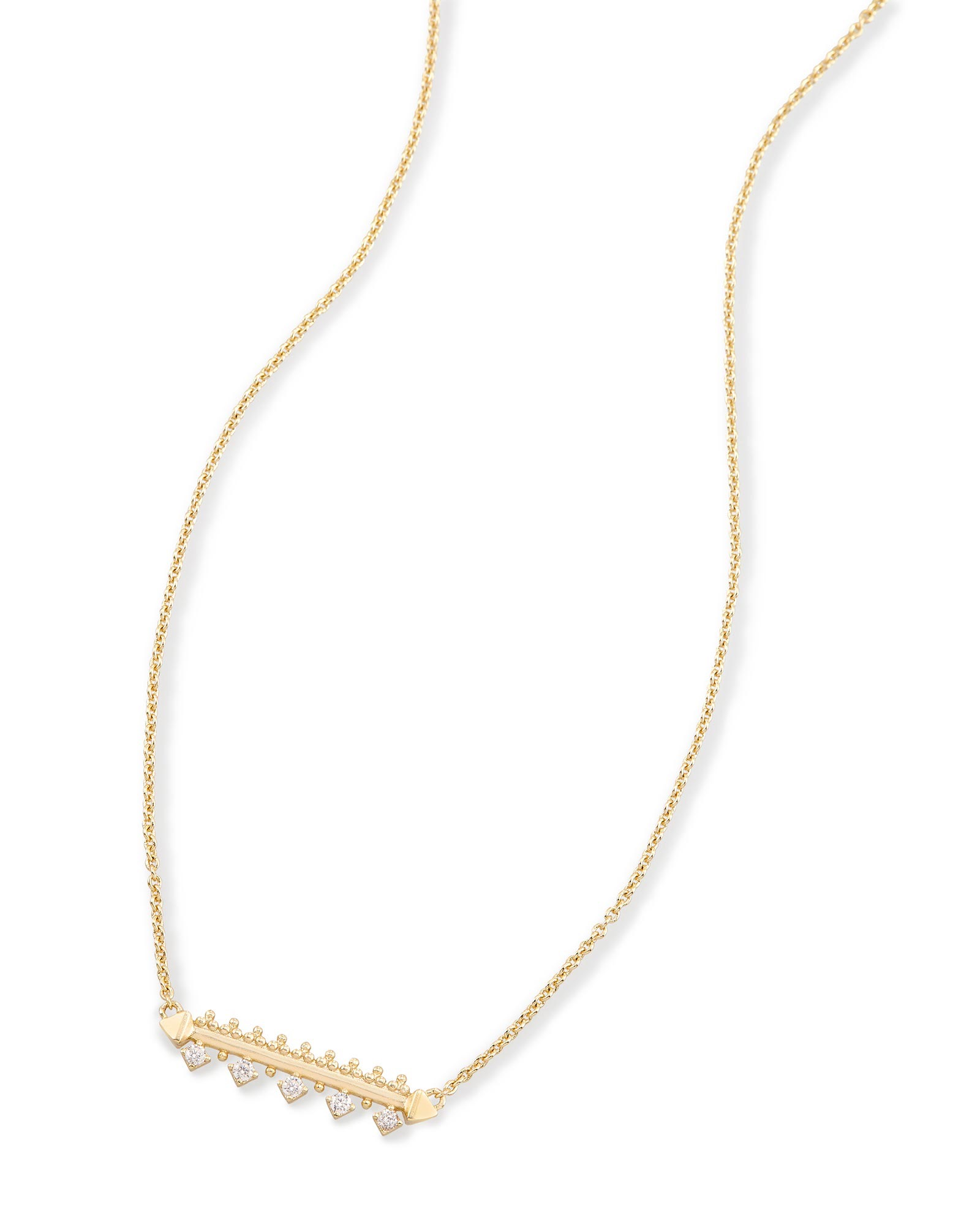 Anissa Bar Pendant Necklace in Gold