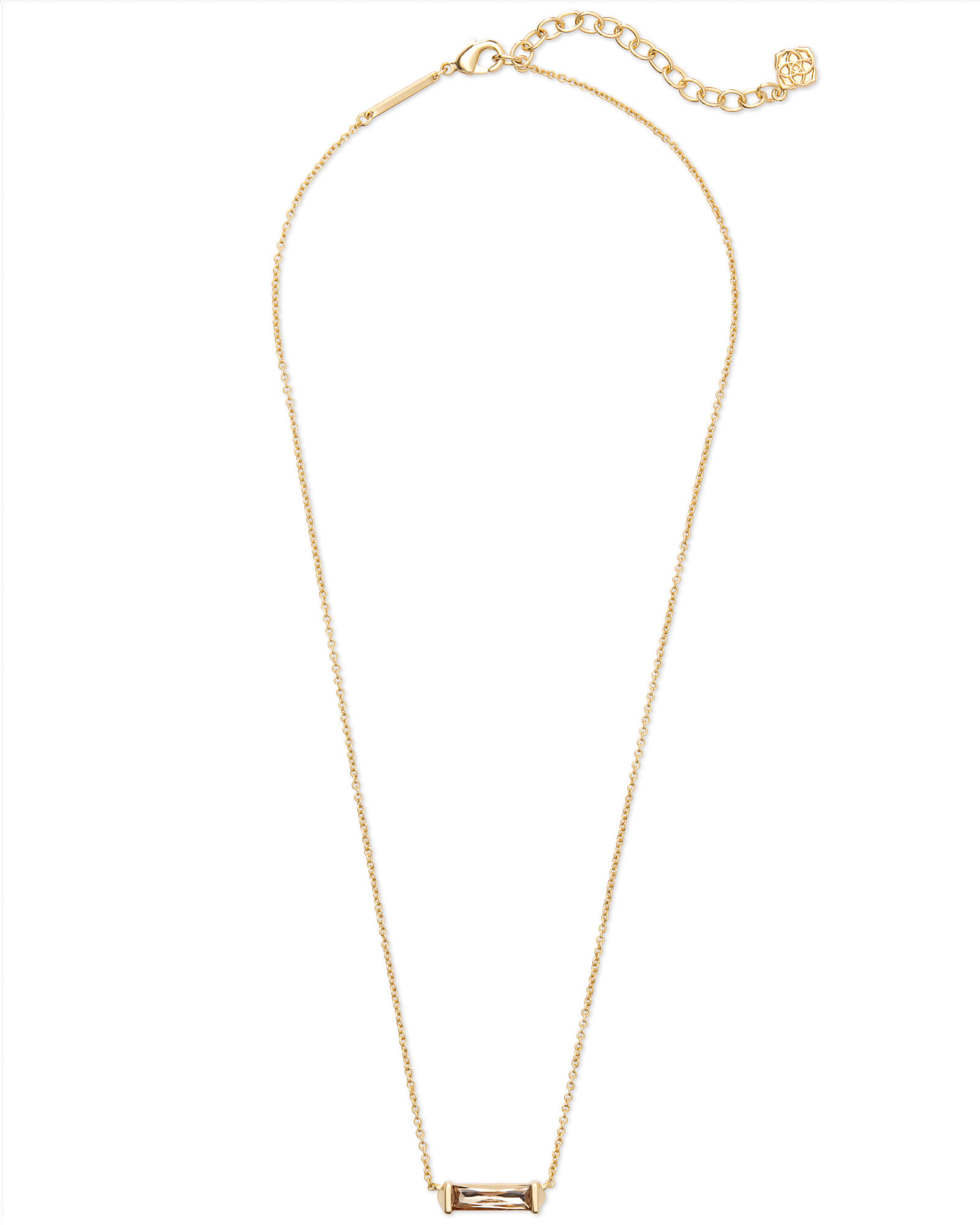 Rufus Gold Pendant Necklace in Smoky Crystal